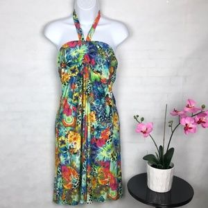 Tropical Venus Halter Sun dress